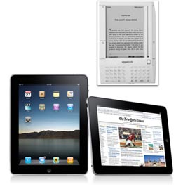 iPad et Kindle 3
